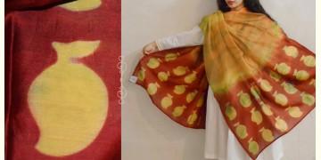 मलंग ☙ Chanderi Silk Clamp dyed Dupatta { आम } ☙