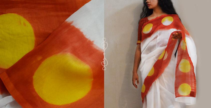 मलंग ☙ Chanderi Silk Clamp dyed Saree { फूलमती } ☙