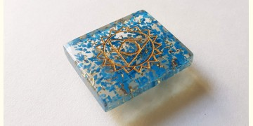 Gilded Pebbles ✶ Stone Jewelry ✶ Vishuddha Chakra Brooch { 20 }