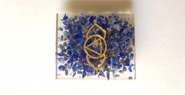 Gilded Pebbles ✶ Stone Jewelry ✶ Ajna Chakra Brooch { 21 }