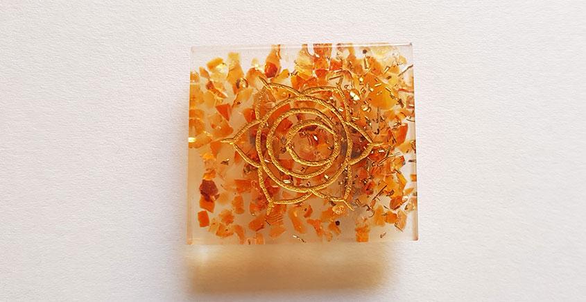 Gilded Pebbles ✶ Stone Jewelry ✶ Svadhisthanna Chakra Brooch { 22 }