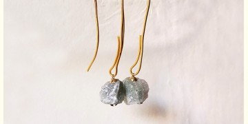 Gilded Pebbles ✶ Stone Jewelry ✶ Umbrella Loop Earrings { 2 }