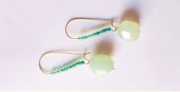 Gilded Pebbles ✶ Stone Jewelry ✶ Crystal Aqua Stones Earrings { 4 }