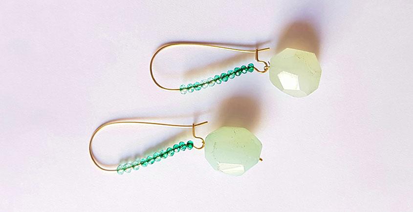 Gilded Pebbles ✶ Stone Jewelry ✶ Crystal Aqua Stones Earrings { 4 }