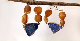 Gilded Pebbles ✶ Stone Jewelry ✶ Colorful Stones Earrings { 8 }