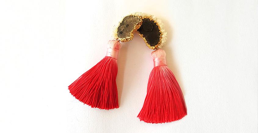 Meera ✺ Stone Jewelry ✺ Cherry love earrings { 9 }