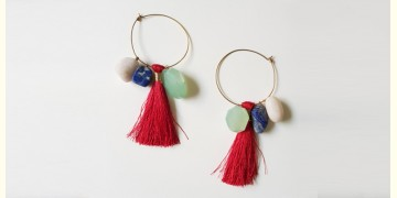 Tinted Oceans ✺ Stone Jewelry ✺ Red Love Loop Earrings { 1 }