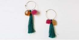 Tinted Oceans ✺ Stone Jewelry ✺ Green Love loop earrings { 2 }