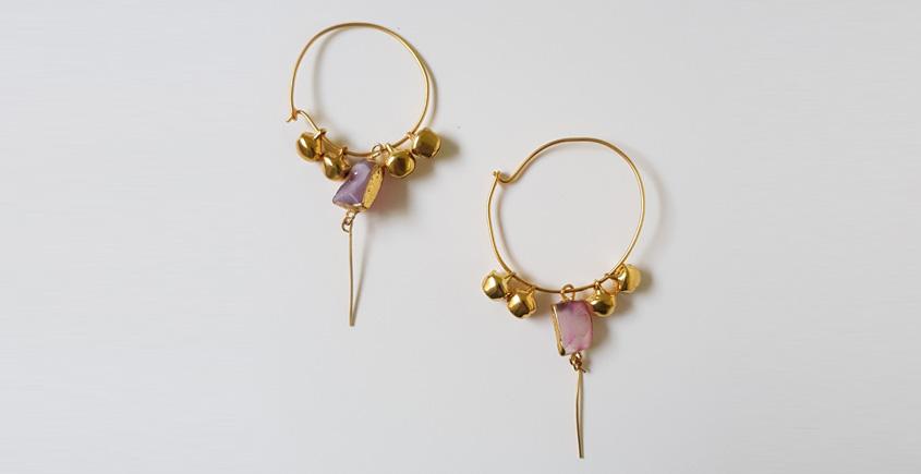 Tinted Oceans ✺ Stone Jewelry ✺ Indian love loop earrings { 3 }
