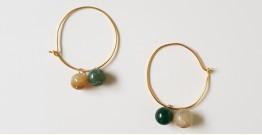 Tinted Oceans ✺ Stone Jewelry ✺ Birdy loop earrings { 8 }