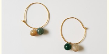 Tinted Oceans ✺ Stone Jewelry ✺ Birdy loop earrings { 8 }