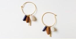 Tinted Oceans ✺ Stone Jewelry ✺ Earthy loop earrings { 9 }
