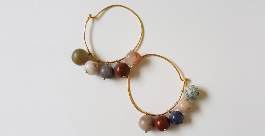 Tinted Oceans ✺ Stone Jewelry ✺ Loop earrings { 12 }