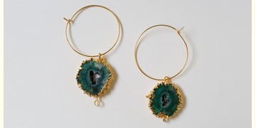 Tinted Oceans ✺ Stone Jewelry ✺ Green stone loop earrings { 13 }