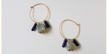 Tinted Oceans ✺ Stone Jewelry ✺ Jade & lapis loop earrings { 14 }