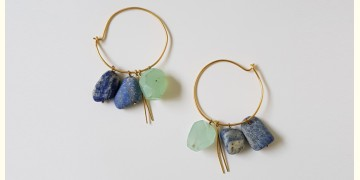 Tinted Oceans ✺ Stone Jewelry ✺ lapis & aqua stones earrings { 16 }