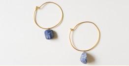 Tinted Oceans ✺ Stone Jewelry ✺ lapis stone loop earrings { 17 }