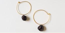 Tinted Oceans ✺ Stone Jewelry ✺ Black stone loop earrings { 18 }