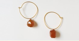 Tinted Oceans ✺ Stone Jewelry ✺ Sunset yellow loop earrings { 19 }