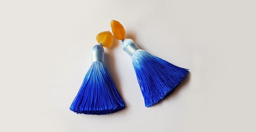 Tinted Oceans ✺ Stone Jewelry ✺ Tempting tassels earrings { 21 }
