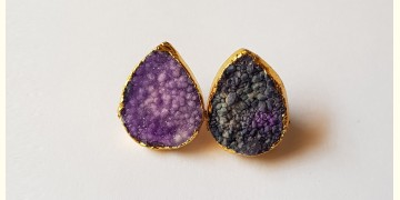 Tinted Oceans ✺ Stone Jewelry ✺ Small lavender studs { 28 }