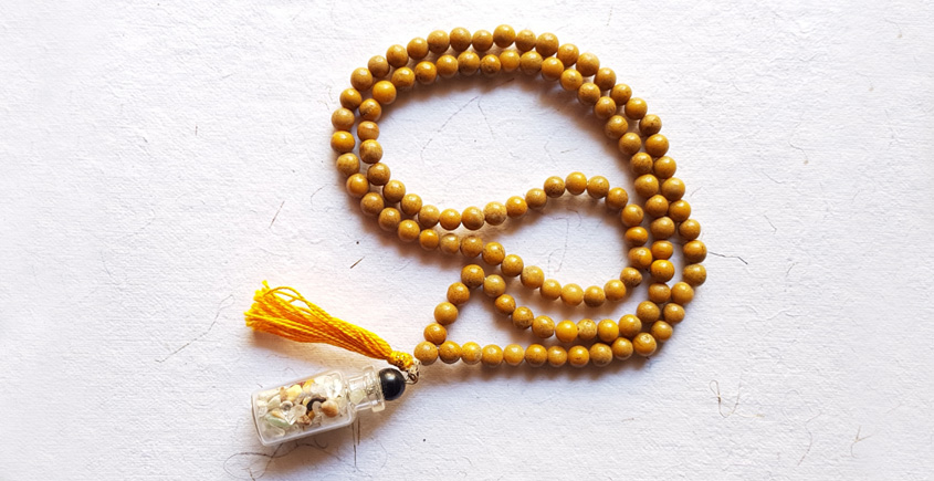 Tinted Oceans ✺ Stone Jewelry ✺ Hippe bottle mala { 30 }