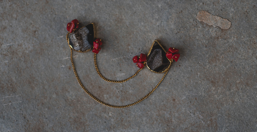 Meera ✪ Stone Jewelry ✪ Connecting Collar Pins (unisex) ✪ 15