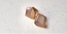 Meera ✪ Stone Jewelry ✪ lavender shade cufflinks ✪ 21