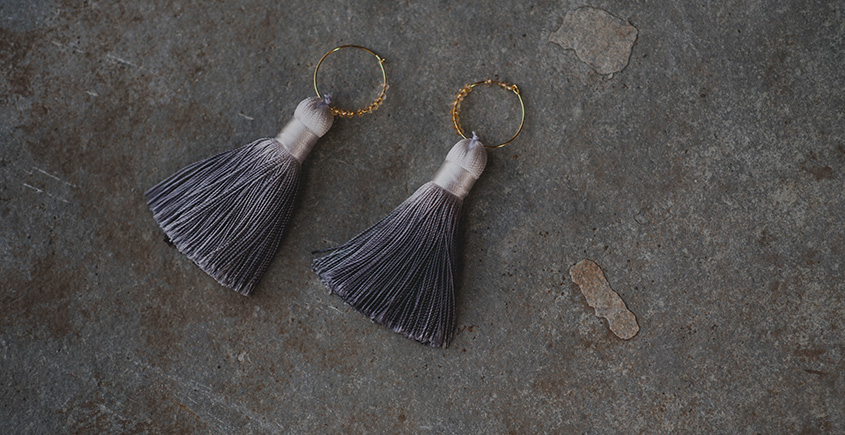 Meera ✪ Stone Jewelry ✪ Tempting Tassels Earrings ✪ 14