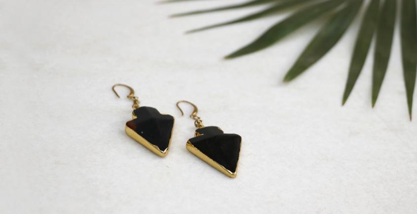 Meera ✺ Stone Jewelry ✺ Long Arrow Earrings { 5 }