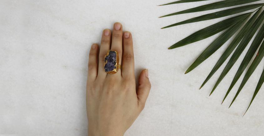 Meera ✺ Stone Jewelry ✺ Volanic Ring { 17 }