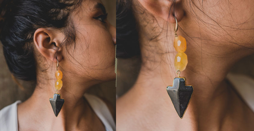 Bunched Together ✪ Stone Jewelry ✪ Sunset Earrings { 24 }