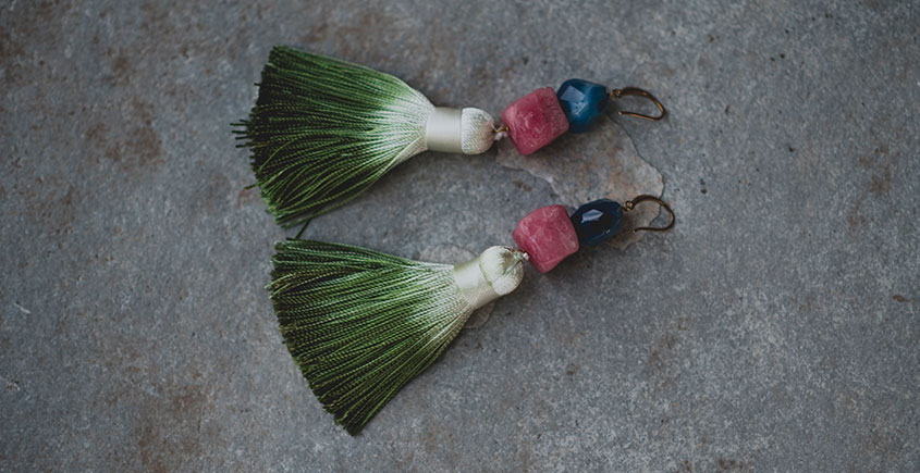Bunched Together ✪ Stone Jewelry ✪ Pastel Shaded Earrings { 27 }