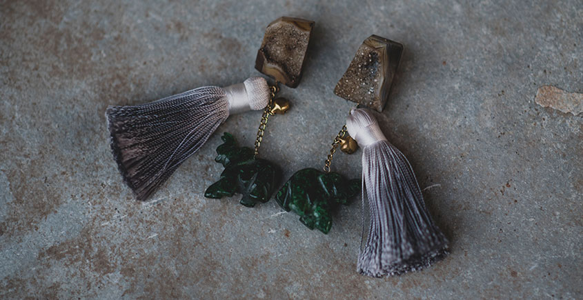 Bunched Together ✪ Stone Jewelry ✪ Elephant Stones earrings { 35 }