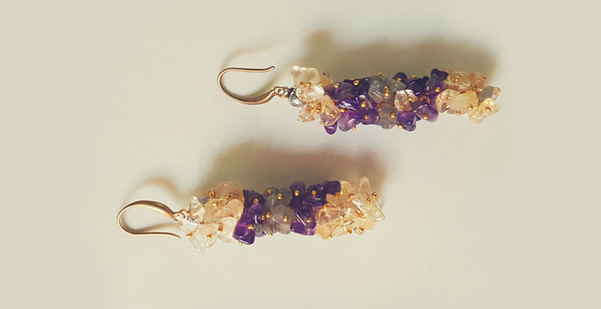 Bunched Together ✪ Stone Jewelry ✪ Agate grapes stones earrings { 14 }