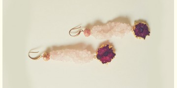 Bunched Together ✪ Stone Jewelry ✪ Rose Quartz Earrings { 17 }