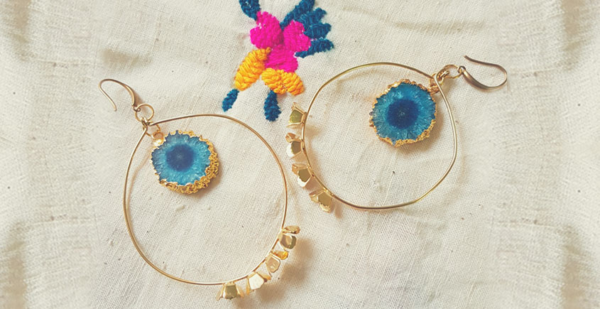 Bunched Together ✪ Stone Jewelry ✪ Bird Eye Earrings { 18 }