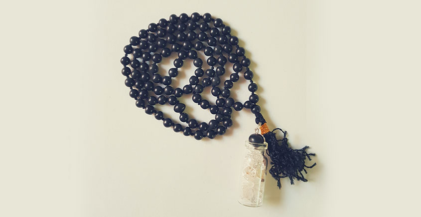 Bunched Together ✪ Stone Jewelry ✪ Black Stones Mala { 4 }