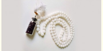 Bunched Together ✪ Stone Jewelry ✪ White Stones Mala { 5 }