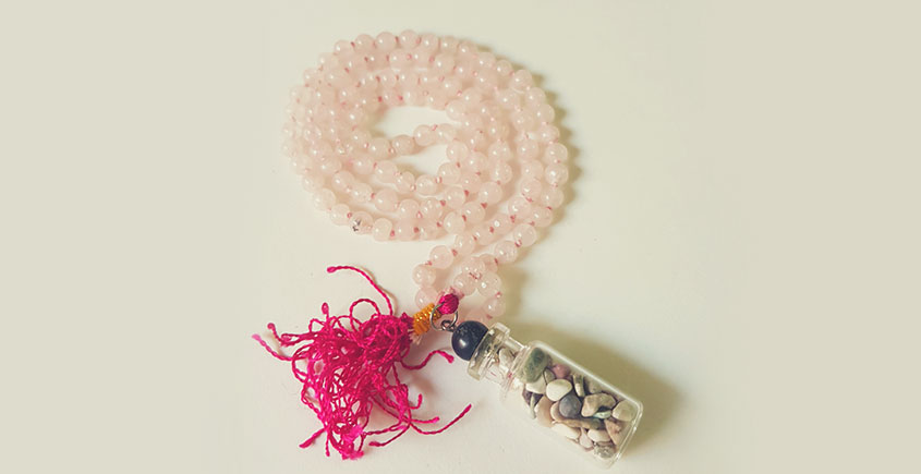Bunched Together ✪ Stone Jewelry ✪ Rose Quartz Mala { 7 }