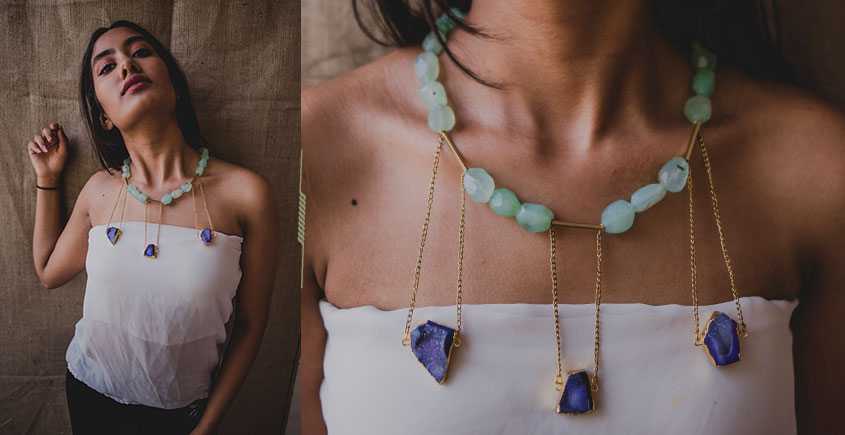 Bunched Together ✪ Stone Jewelry ✪ Huge Swing Necklace { 37 }