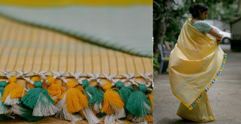 Nool ✻ Handwoven Cotton Saree ✻ 6