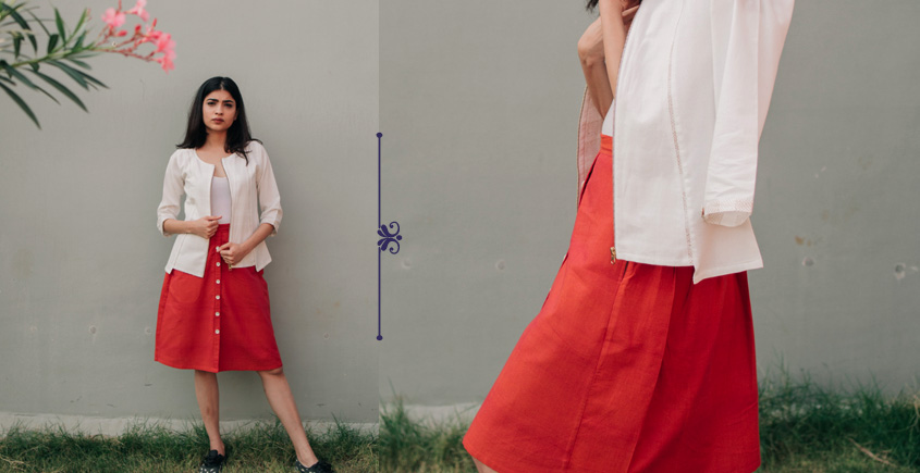 Nool ✻ Kattam Handwoven Skirt ✻ 24