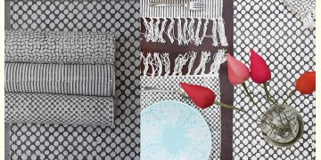 Pomegranate ◐ Cotton Table Mats & Runner { Set- 6 Mats & 1 Runner } ◐ 18