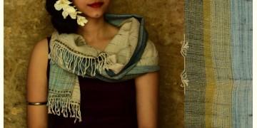 Urvashi ~  Handwoven stole { Tussar Silk + Wool } O