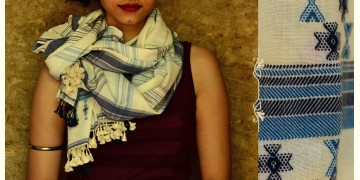 Urvashi ~  Handwoven stole { Bamboo Fiber + Cotton } B