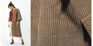 Rebirth in clay ⚘ Natural Dyed ⚘ Brown striped long jacket Dress ⚘ 22