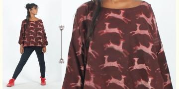 Rebirth in clay ⚘ Natural Dyed ⚘ Block Printed Deer Top ⚘ 3