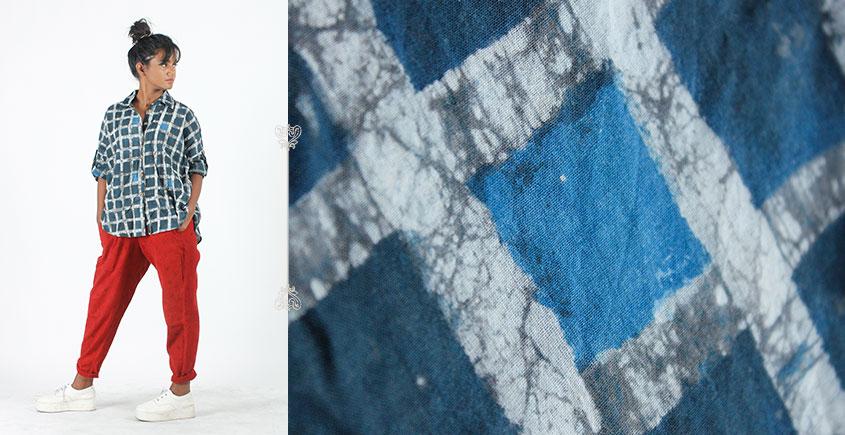 Rebirth in clay ⚘ Natural Dyed ⚘ Dark Blue Checkered Shirt ⚘ 7