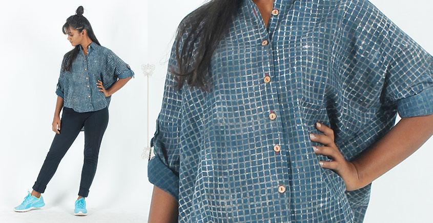 Rebirth in clay ⚘ Natural Dyed ⚘ Indigo Checkered Shirt ⚘ 10